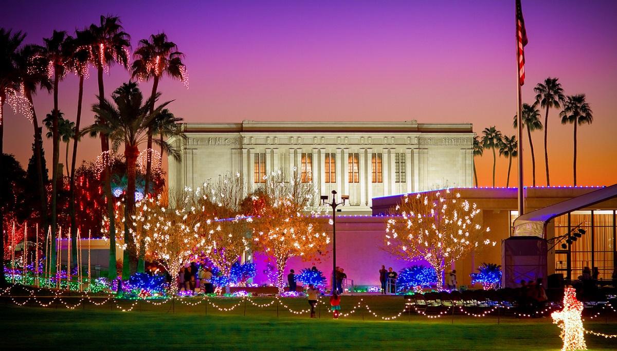Christmas party in Arizona - Mesa temple