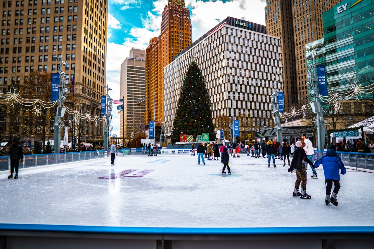 Christmas party in The New York - Ice skating